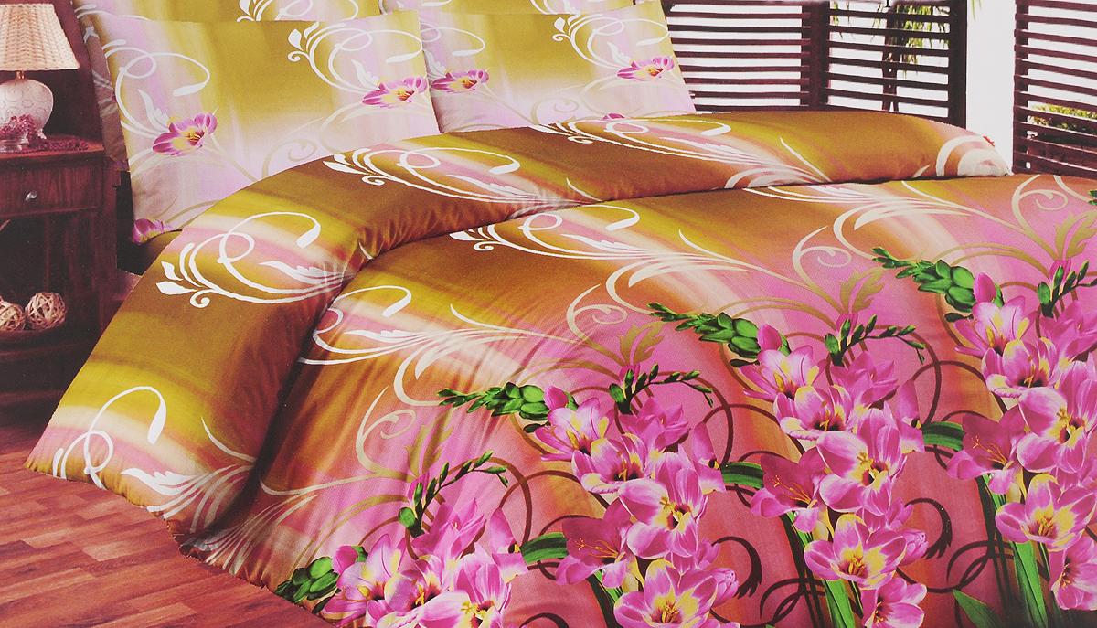 Комплект белья Liya Home Collection Аквамарин, семейный, наволочки 70x700000120002153Комплект белья Liya Home Collection Аквамарин состоит из двух пододеяльников, простыни и двух наволочек. Изделия выполнены из хлопка (70%) и полиэстера (30%). Хлопок является классическим примером гигроскопичности, гигиеничности, натуральности и простоты. Сочетание его с полиэстером лишает ткань присущих хлопку недостатков. Изделия из хлопка с полиэстером не выгорают, не растягиваются, дольше используются. Постельное белье из хлопка с полиэстером имеет двукратную продолжительность эксплуатации, по сравнению с чистым хлопком, оно не мнется и сохнет очень быстро.