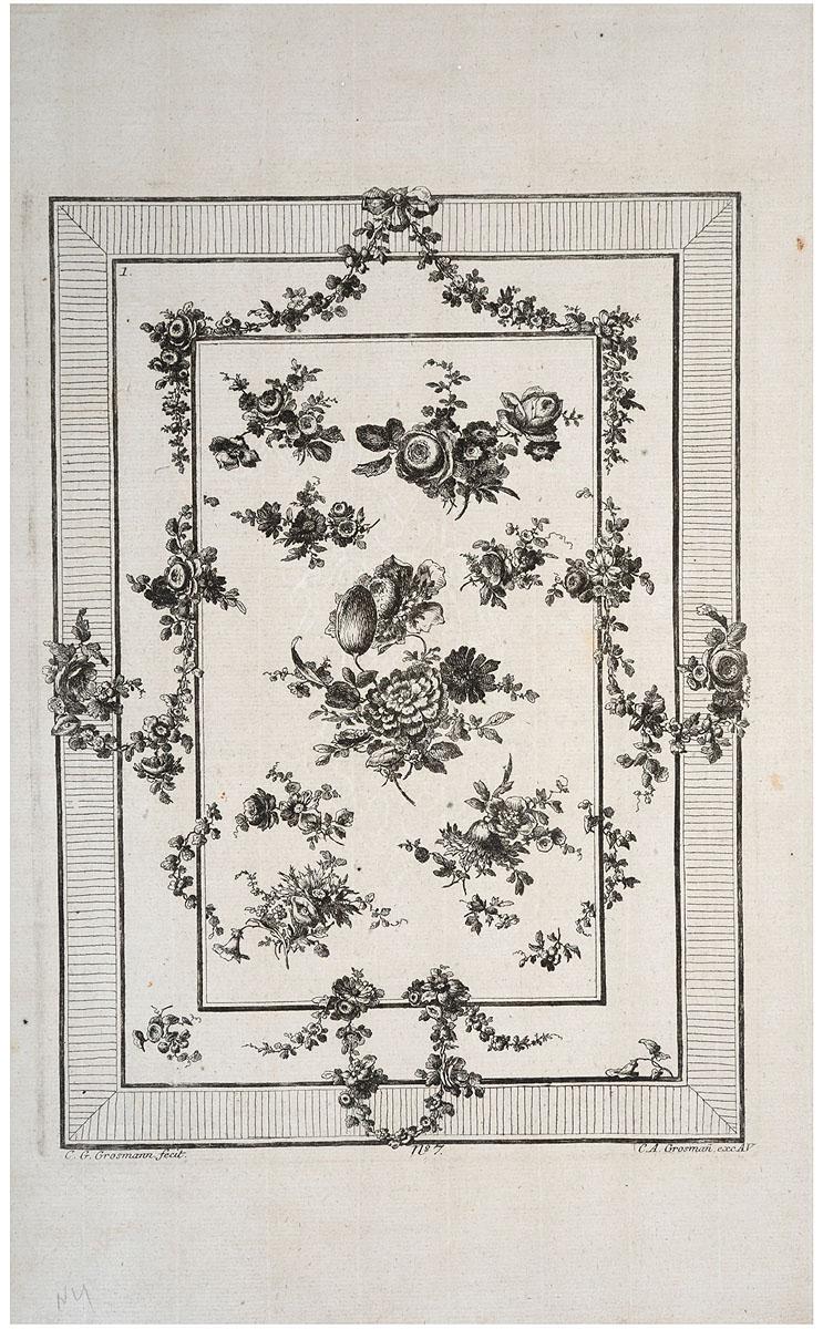 Орнаменаментальные композиции. Гравюра. Западная Европа, XVIII век