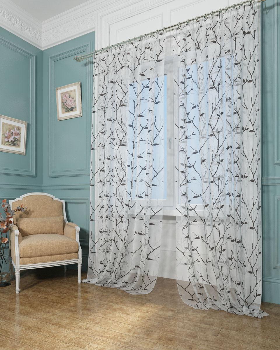 Комплект тюлей Сирень Тени ветвей, на ленте, 290 х 260 см01429-ФТ-ВЛ-001Тюль Сирень, используемый материал Вуаль - легкая, парящая ткань. Благодаря своей прозрачности позволяет создать в комнате уют. отлично дополнят украшение любого окна. Ткань хорошо держит форму, не требует специального ухода. Цветочный рисунок в стиле прованс создаст в помещении атмосферу спокойствия и гармонии. Крепление на карниз при помощи шторной ленты на крючки. В комплекте: Занавески: 2 шт. Размер (ШхВ): 145 см х 260 см. Рекомендации по уходу: стирка при 30 градусах гладить при температуре до 110 градусов Изображение на мониторе может немного отличаться от реального.