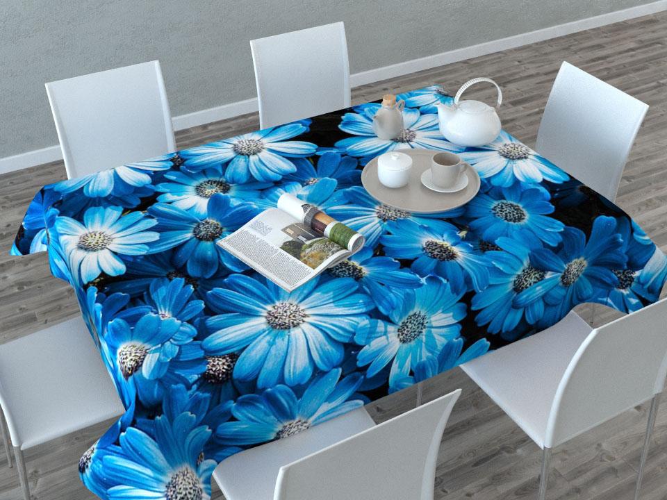 Скатерть Сирень Букет из голубых цветов, прямоугольная, 145 x 120 см01515-СК-ГБ-003Прямоугольная скатерть Сирень Букет из голубых цветов с ярким и объемным рисунком, выполненная из габардина, преобразит вашу кухню, визуально расширит пространство, создаст атмосферу радости и комфорта. Рекомендации по уходу: стирка при 30 градусах, гладить при температуре до 110 градусов. Размер скатерти: 145 х 120 см. Изображение может немного отличаться от реального.