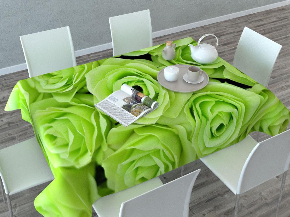 Скатерть Сирень Зеленые розы, прямоугольная, 145 x 120 см01825-СК-ГБ-003Прямоугольная скатерть Сирень Зеленые розы с ярким и объемным рисунком, выполненная из габардина, преобразит вашу кухню, визуально расширит пространство, создаст атмосферу радости и комфорта. Рекомендации по уходу: стирка при 30 градусах, гладить при температуре до 110 градусов. Размер скатерти: 145 х 120 см. Изображение может немного отличаться от реального.