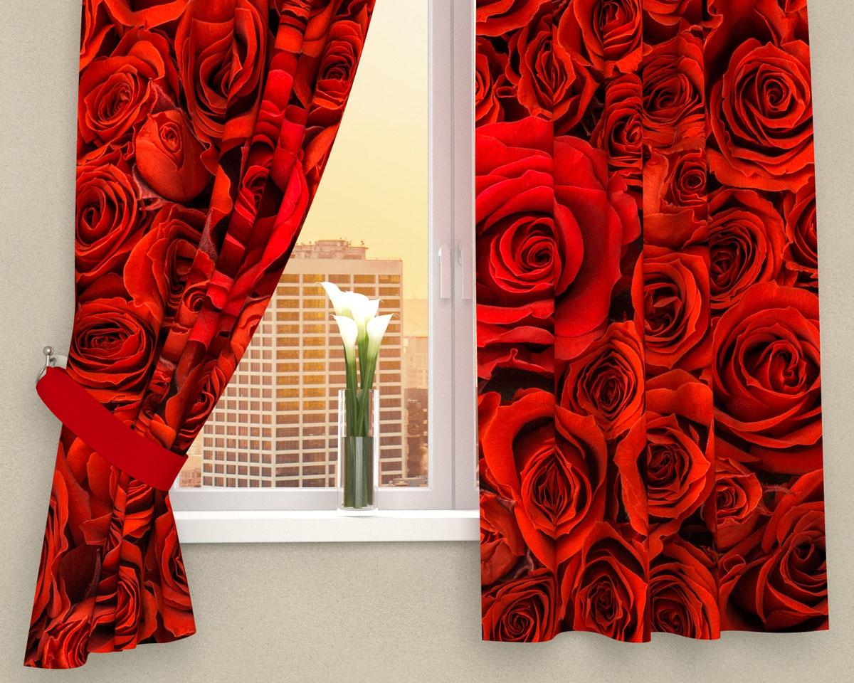 Комплект фотоштор Сирень Алые розы, на ленте, высота 160 см01947-ФК-ГБ-002Фотошторы для кухни Сирень Алые розы, выполненные из габардина (100% полиэстера), отлично дополнят украшение любого интерьера. Особенностью ткани габардин является небольшая плотность, из-за чего ткань хорошо пропускает воздух и солнечный свет. Ткань хорошо держит форму, не требует специального ухода. Крепление на карниз при помощи шторной ленты на крючки. В комплекте 2 шторы. Ширина одного полотна: 145 см. Высота штор: 160 см. Рекомендации по уходу: стирка при 30 градусах, гладить при температуре до 110 градусов. Изображение на мониторе может немного отличаться от реального. Подхваты в комплект не входят.