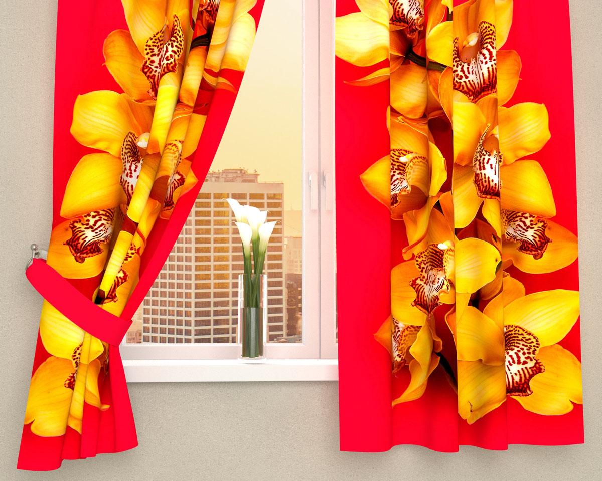 Комплект фотоштор Сирень Желтая орхидея, на ленте, 290 х 160 см01974-ФК-ГБ-002Фотошторы для кухни Сирень, выполненные из материала Габардин (100% полиэстер) отлично дополнят украшение любого интерьера. Особенностью ткани габардин является небольшая плотность, из-за чего ткань хорошо пропускает воздух и солнечный свет. Ткань хорошо держит форму, не требует специального ухода. Яркая и чёткая картинка перенесенная на наши шторы будет радовать Вас каждый день. Крепление на карниз при помощи шторной ленты на крючки. В комплекте: Портьера: 2 шт. Размер (ШхВ): 145 см х 160 см. Рекомендации по уходу: стирка при 30 градусах гладить при температуре до 110 градусов Изображение на мониторе может немного отличаться от реального.
