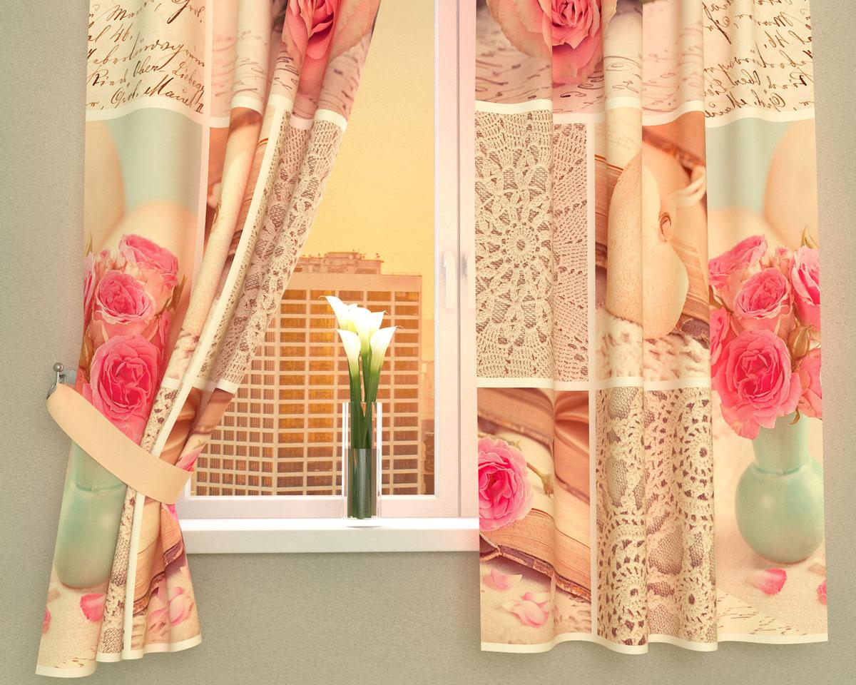 Комплект фотоштор Сирень Романтичная композиция, на ленте, высота 160 см02368-ФК-ГБ-002Фотошторы для кухни Сирень Романтичная композиция, выполненные из габардина (100% полиэстера), отлично дополнят украшение любого интерьера. Особенностью ткани габардин является небольшая плотность, из-за чего ткань хорошо пропускает воздух и солнечный свет. Ткань хорошо держит форму, не требует специального ухода. Крепление на карниз при помощи шторной ленты на крючки. В комплекте 2 шторы. Ширина одного полотна: 145 см. Высота штор: 160 см. Рекомендации по уходу: стирка при 30 градусах, гладить при температуре до 110 градусов. Изображение на мониторе может немного отличаться от реального. Подхваты в комплект не входят.