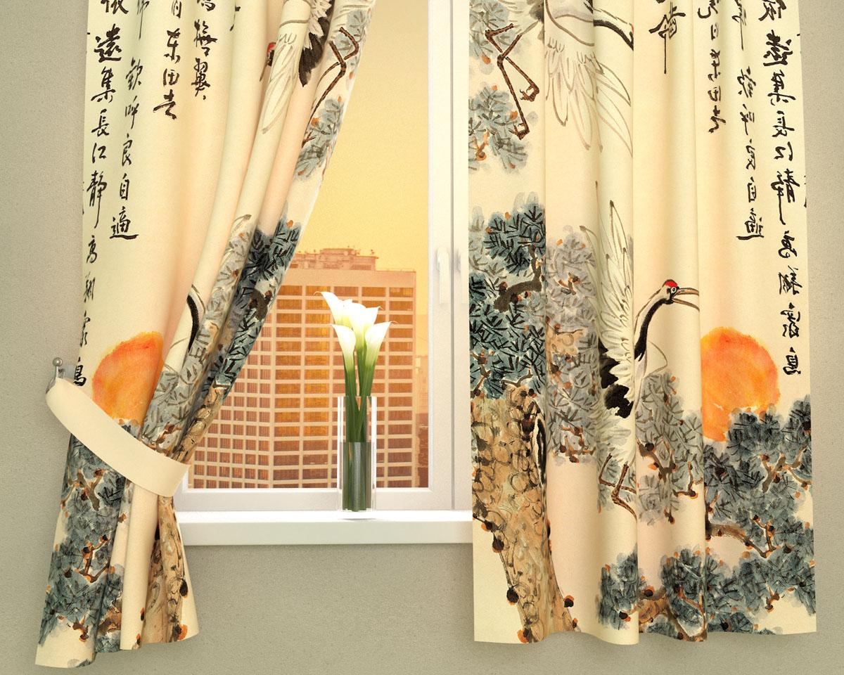 Комплект фотоштор Сирень Японская фреска, на ленте, высота 160 см02890-ФК-ГБ-002Фотошторы для кухни Сирень, выполненные из габардина (100% полиэстер), отлично дополнят любой интерьер. Особенностью ткани габардин является небольшая плотность, из-за чего ткань хорошо пропускает воздух и солнечный свет. Ткань хорошо держит форму, не требует специального ухода. Яркая и четкая картинка, перенесенная на шторы, будет радовать вас каждый день. Фотошторы набирают все большую популярность, поскольку фото - это не просто карточка с изображением предмета, человека или природы - это нечто большее: пойманный миг, отрезок времени и эпохи, неуловимое веяние незнакомой культуры. Крепление на карниз при помощи шторной ленты на крючки. Подхваты в комплект не входят. Рекомендации по уходу: стирка при 30°С, гладить при температуре до 110°С.