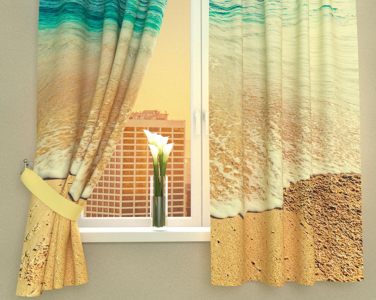 Комплект фотоштор Сирень Дикий пляж, на ленте, высота 160 см03016-ФК-ГБ-002Фотошторы для кухни Сирень Дикий пляж, выполненные из габардина (100% полиэстера), отлично дополнят украшение любого интерьера. Особенностью ткани габардин является небольшая плотность, из-за чего ткань хорошо пропускает воздух и солнечный свет. Ткань хорошо держит форму, не требует специального ухода. Крепление на карниз при помощи шторной ленты на крючки. В комплекте 2 шторы. Ширина одного полотна: 145 см. Высота штор: 160 см. Рекомендации по уходу: стирка при 30 градусах, гладить при температуре до 110 градусов. Изображение на мониторе может немного отличаться от реального. Подхваты в комплект не входят.