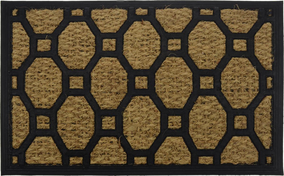 Коврик придверный Shree Sai International Панама 2, 60 х 40 см144_вид _2Оригинальный придверный коврик Shree Sai International Панама 2 надежно защитит помещение от уличной пыли и грязи. Он изготовлен из жесткого кокосового волокна и нескользящей резиновой основы. Волокна кокоса не подвержены гниению и не темнеют, поэтому коврик сохранит привлекательный внешний вид на долгое время.