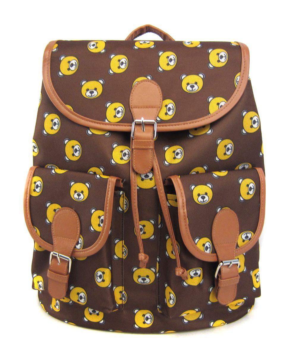 Рюкзак молодежный Creative Мишки, цвет: коричневый, 23 лGL-BC844Милая и очаровательная модель, которая сразу же привлекает внимание и поднимает настроение! Удобный рюкзак с классическим кроем, застежкой на клапан и двумя карманами впереди станет надежным и постоянным спутником для своего владельца.