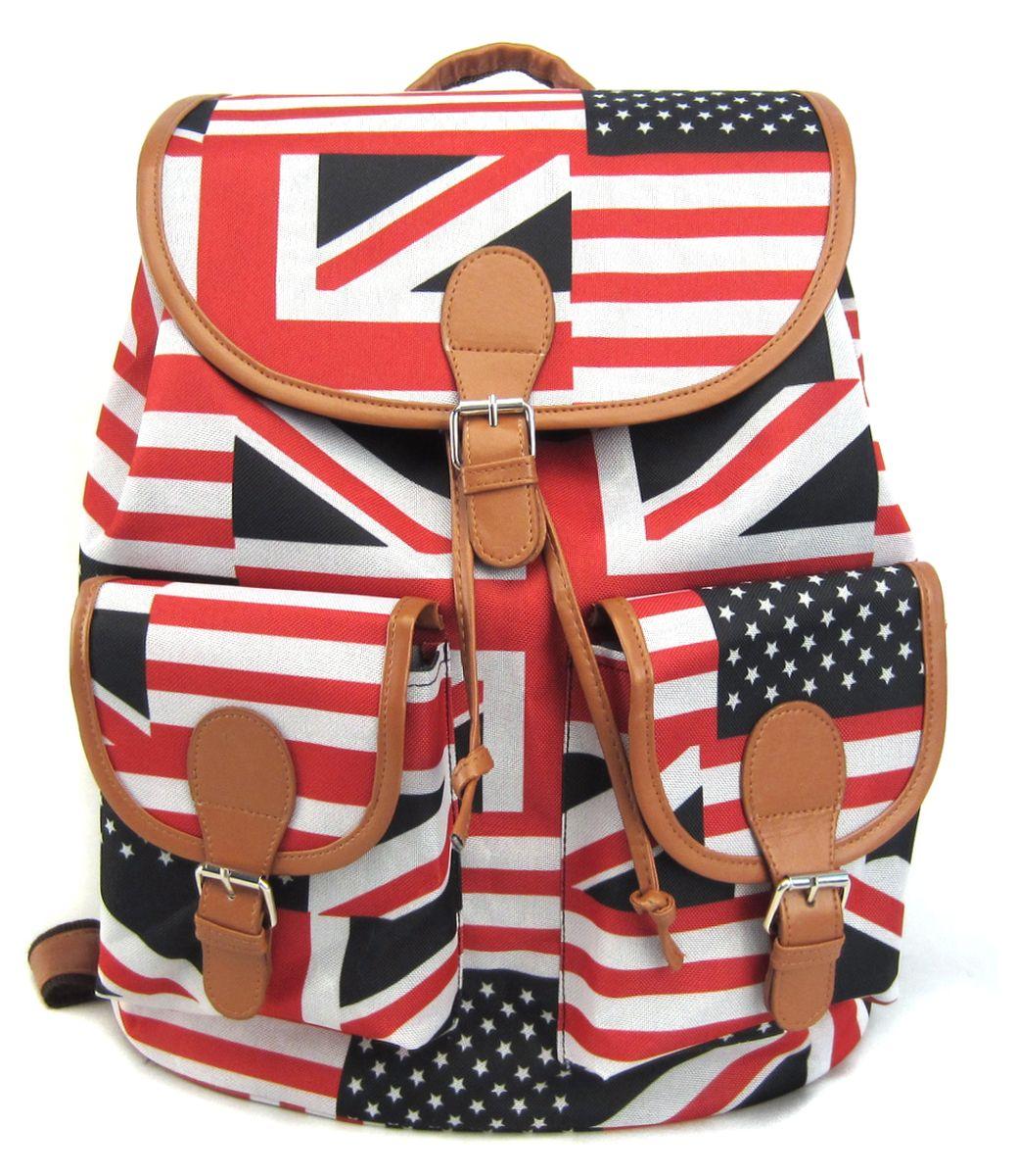 Рюкзак молодежный Creative British Flag, цвет: мультиколор, 23 лGL-BC853Эта красно-бело-черная расцветка – на пике популярности уже не первый сезон! С таким стильным и удобным рюкзаком его владелица точно не останется незамеченной, даже в суете большого города! Этот аксессуар органично впишется в современный подростковый стиль, а благодаря функциональности и удобству – станет любимым и незаменимым!