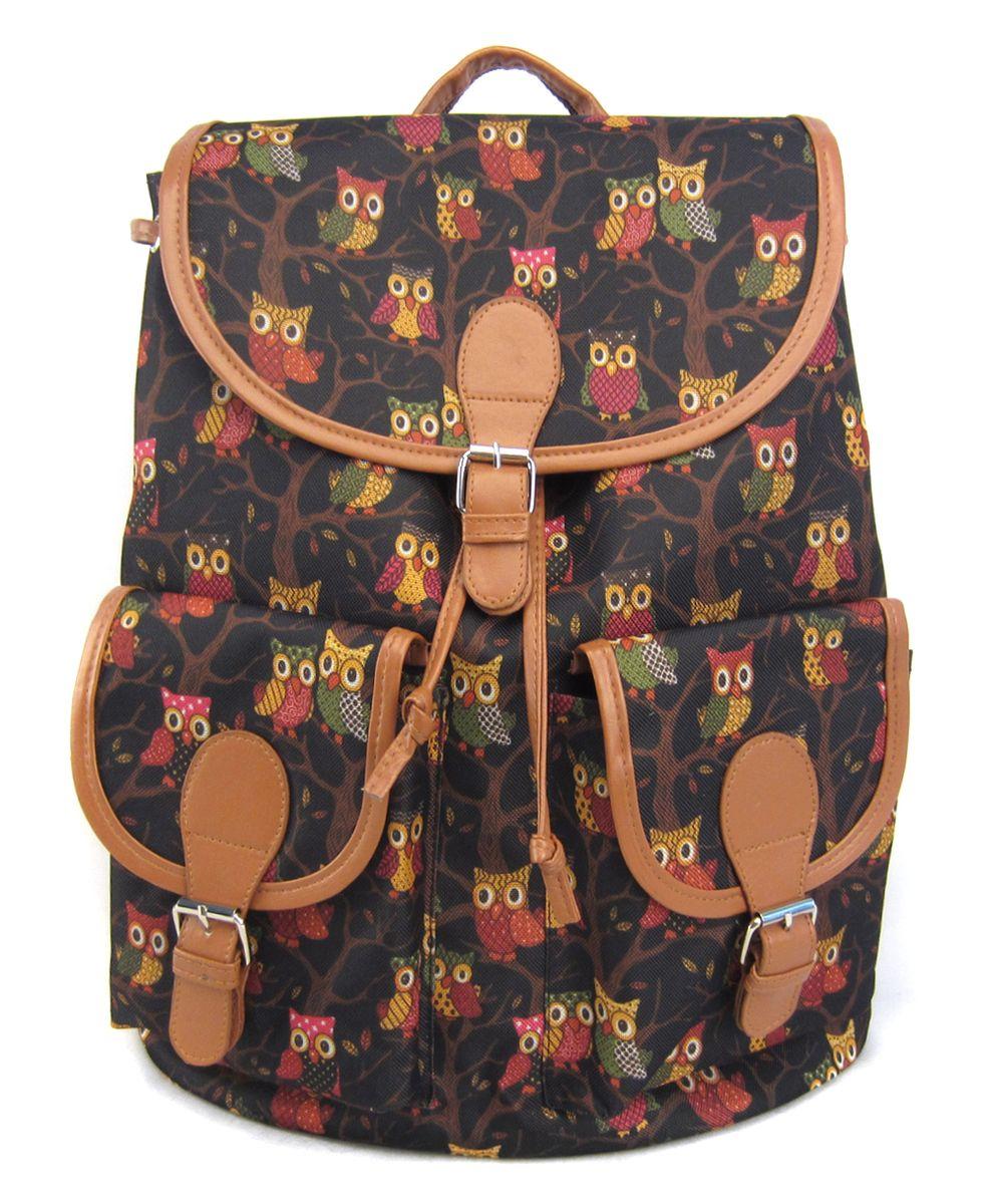 Рюкзак молодежный Creative Филины, цвет: черный, 23 лGL-BC862Совы в этом сезоне – как никогда популярны! Эта умная и благородная птица – еще и очень милая! Поэтому она нравится абсолютно всем! Удобный, прочный, вместительный и стильный рюкзак от бренда Creative LLC – это отличный способ отдать дань «совиной» моде.