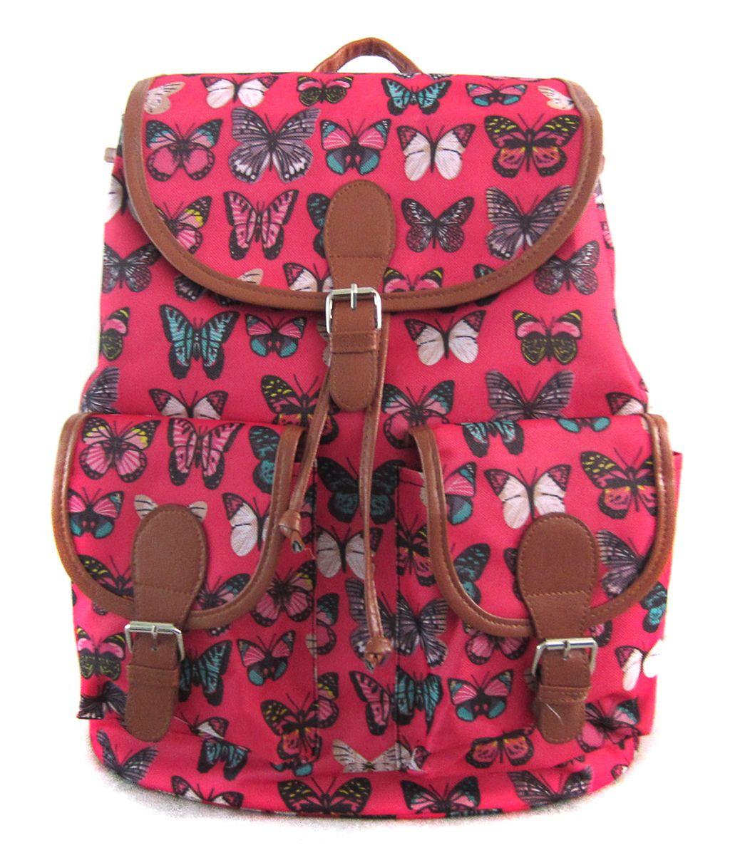 Рюкзак молодежный Creative Махаоны, цвет: розовый, 23 лGL-BC866Оптимальный выбор для тех, кто придерживается романтичного и женственного стиля, но ценит удобство и комфорт во всем! Рюкзак из плотной экологичной ткани, с удобной застежкой-клапаном, двумя карманами впереди и маленьким внутренним кармашком – любимая молодежная модель во всем мире!
