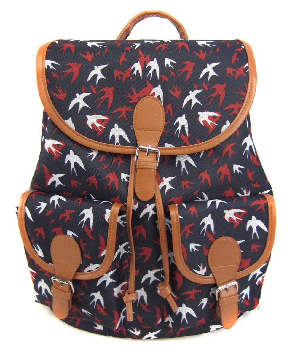 Рюкзак молодежный Creative Ласточки, цвет: темно-синий, 23 лGL-BC869Бренд Creative LLC верен себе! Он снова предлагает всем любителям рюкзаков неповторимое сочетание удобства, классического кроя, экологичности и неповторимого стиля. Эта модель с романтичным принтом в виде разноцветных силуэтов ласточек, как буд-то зовет в путешествие!