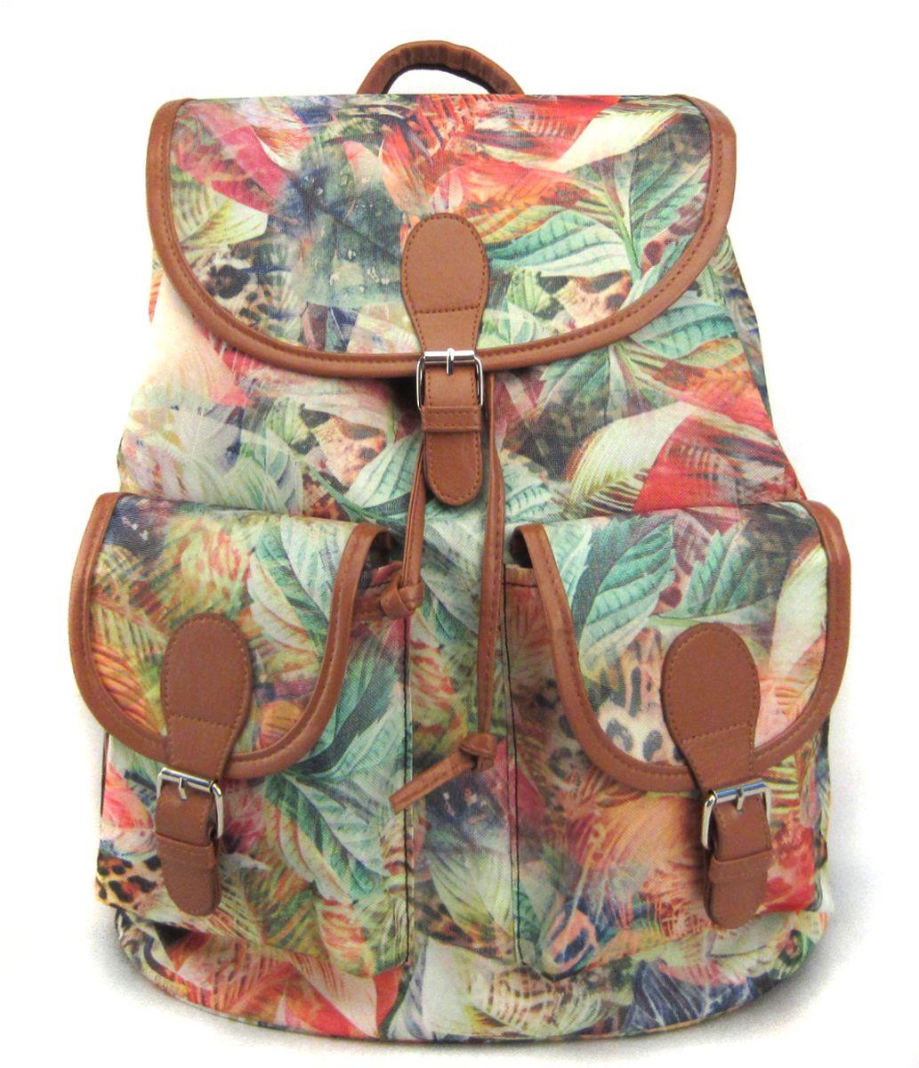 Рюкзак молодежный Creative Флора лета, цвет: мультиколор, 23 лGL-BC871Интересная, броская, очень стильная модель, которая будет делать ярче каждый день! Этот рюкзак сочетает в себе практичность и экологичность и любимый многими растительный принт в довольно ярком цветовом решении.