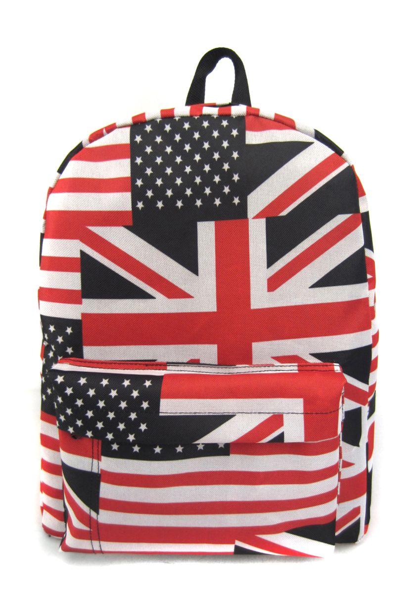 Рюкзак молодежный Creative American Flag, цвет: мультиколор, 16 лGL-BC875Лаконичная и очень удобная модель, в которую поместится все: школьные принадлежности и завтрак, спортивная форма, любимые игрушки, ноутбук. Это рюкзак универсален именно благодаря удобному и простому крою.