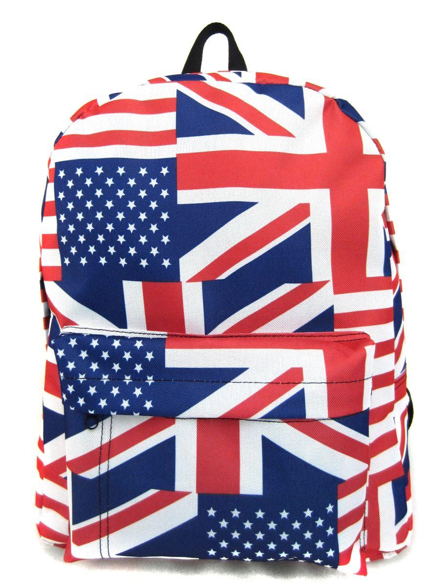 Рюкзак молодежный Creative British Flag, цвет: мультиколор, 16 лGL-BC876Лаконичная и очень удобная модель, в которую поместится все: школьные принадлежности и завтрак, спортивная форма, любимые игрушки, ноутбук. Это рюкзак универсален именно благодаря удобному и простому крою.