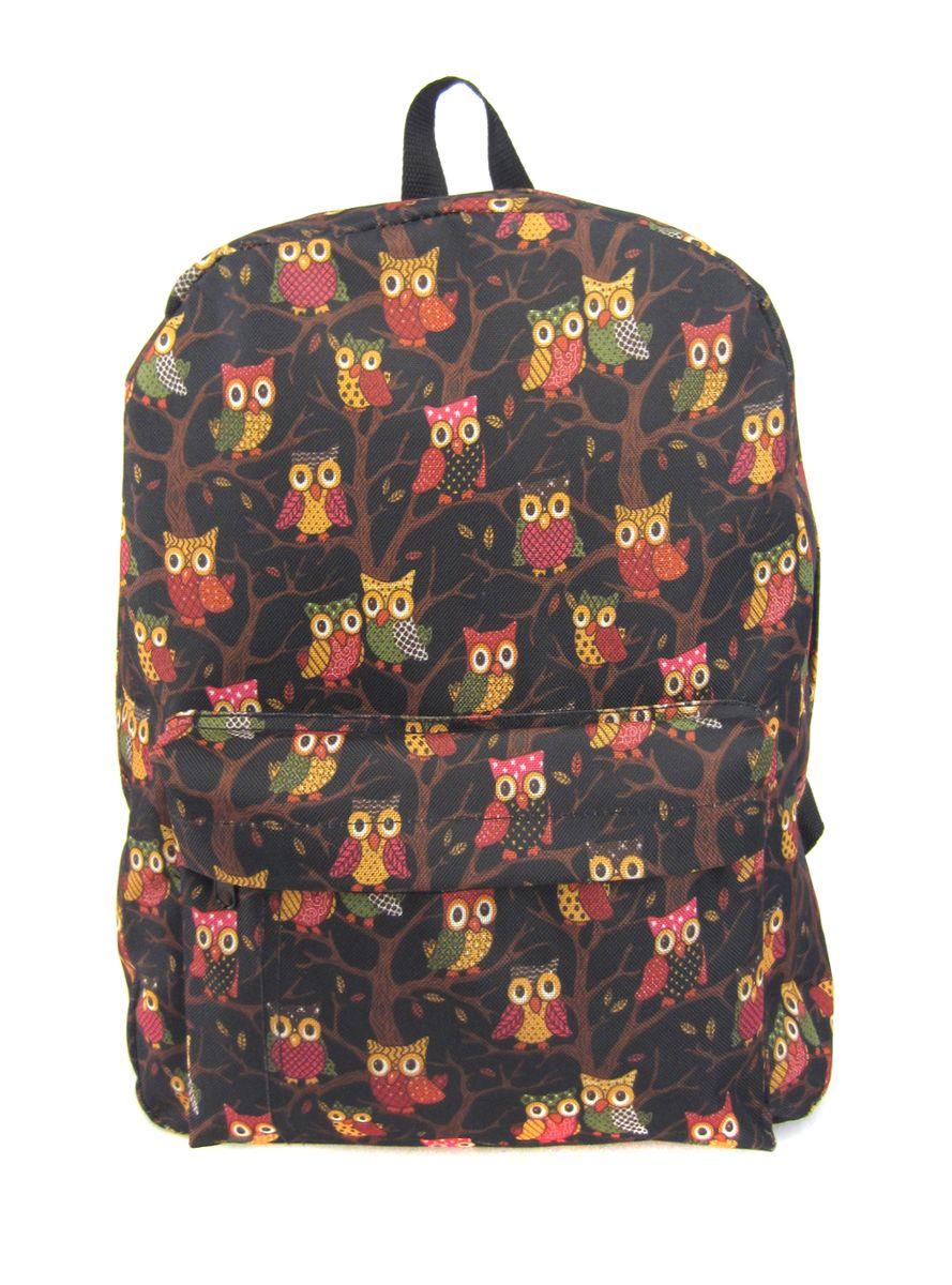 Рюкзак молодежный Creative Филины, цвет: черный, 16 лGL-BC878Лаконичная и очень удобная модель, в которую поместится все: школьные принадлежности и завтрак, спортивная форма, любимые игрушки, ноутбук. Это рюкзак универсален именно благодаря удобному и простому крою.