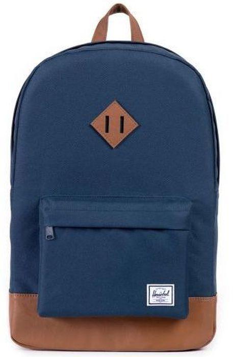 Рюкзак городской Herschel Heritage, цвет: синий, коричневый, 21,5 л. 10007-00007-OS10007-00007-OSРюкзак Herschel Heritage - это функциональный класический дизайн с особым вниманием к деталям.
