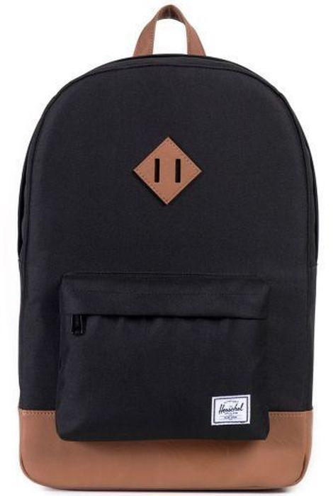 Рюкзак городской Herschel Heritage, цвет: черный, коричневый, 21,5 л10007-00055-OSРюкзак Herschel Heritage - это функциональный класический дизайн с особым вниманием к деталям.