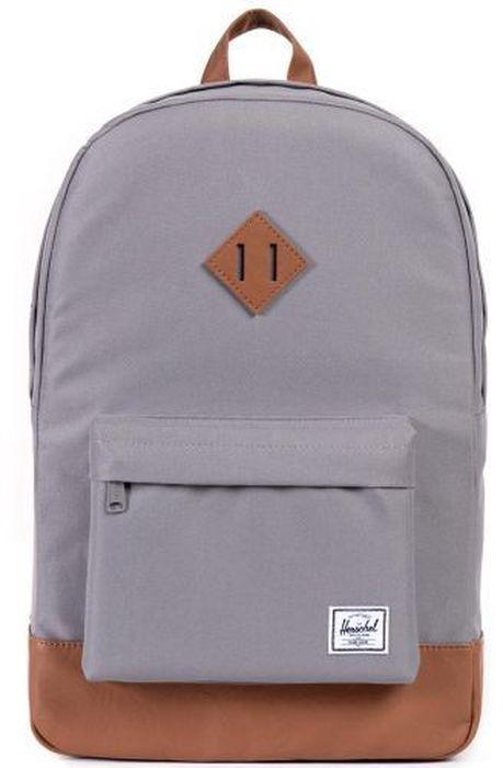 Рюкзак городской Herschel Heritage, цвет: серый, коричневый, 21,5 л10007-00061-OSРюкзак Herschel Heritage - это функциональный класический дизайн с особым вниманием к деталям.