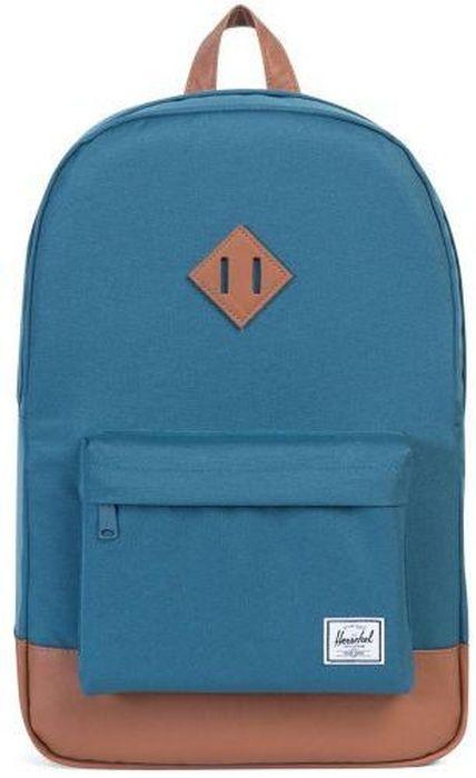 Рюкзак городской Herschel Heritage, цвет: синий, коричневый, 21,5 л. 10007-01139-OS10007-01139-OSРюкзак Herschel Heritage - это функциональный класический дизайн с особым вниманием к деталям.