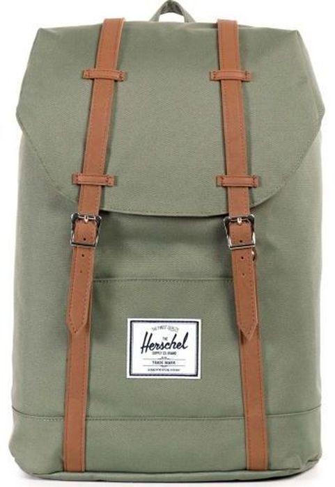 Рюкзак городской Herschel Retreat, цвет: зеленый, коричневый, 19,5 л10066-00923-OSРюкзак Herschel Retreat - класический дизайн, функциональный и вместительный, урезанная копия модели Little America