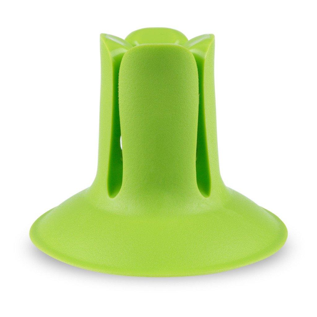 DOC /Держатель-присоска /зеленаяR004860Многофункциональный держатель-присоска, который может быть использован для хранения зубной щетки и других предметов домашнего обихода.Держатель DOC создан для беспроблемного хранения зубных щеток любых размеров и форм.