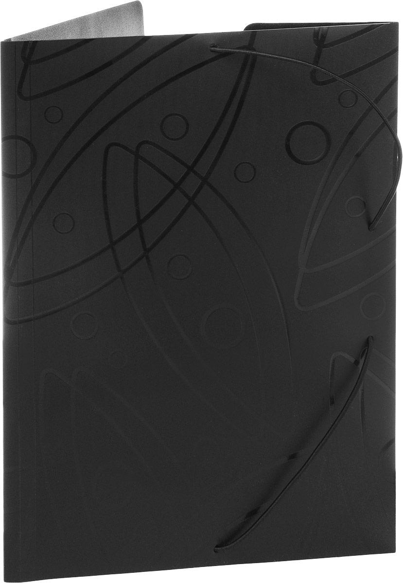 Бюрократ Папка на резинке Galaxy формат А4 цвет черный816765_черныйПапка на резинке Galaxy - это удобный и функциональный офисный инструмент, предназначенный для хранения и транспортировки большого объема рабочих бумаг и документов формата А4. Папка изготовлена из жесткого, но гибкого фактурного пластика и закрывается при помощи угловых резинок. Резинки не позволят папке раскрыться в неподходящий момент. Папка надежно сохранит ваши документы и сбережет их от повреждений, пыли и влаги.