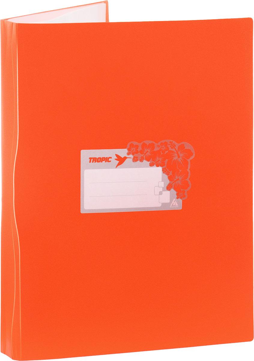 Бюрократ Папка Tropic с файлами 10 листов формат А4 цвет оранжевый