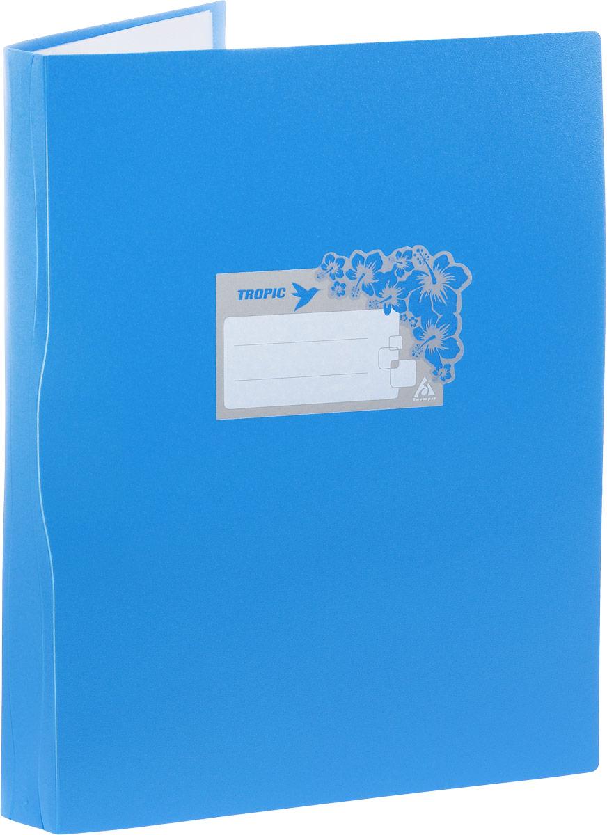 Бюрократ Папка Tropic с файлами 10 листов формат А4 цвет синий