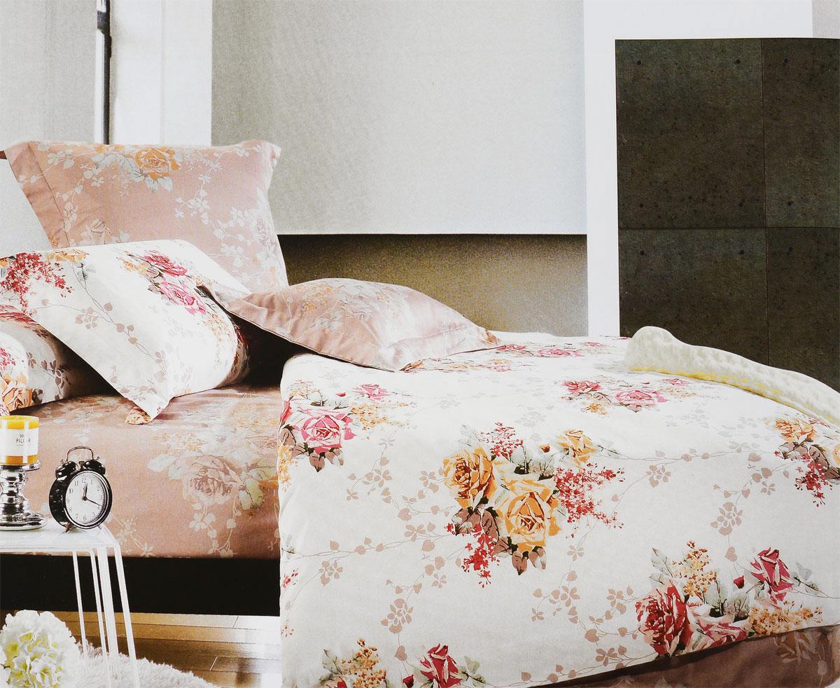 Комплект белья Tiffanys Secret Вальс цветов, евро, наволочки 50х70, цвет: бежевый, розовый, серый204111205Комплект постельного белья Tiffanys Secret Вальс цветов является экологически безопасным для всей семьи, так как выполнен из сатина (100% хлопок). Комплект состоит из пододеяльника, простыни и двух наволочек. Предметы комплекта оформлены оригинальным рисунком. Благодаря такому комплекту постельного белья вы сможете создать атмосферу уюта и комфорта в вашей спальне. Сатин - это ткань, навсегда покорившая сердца человечества. Ценившие роскошь персы называли ее атлас, а искушенные в прекрасном французы - сатин. Секрет высококачественного сатина в безупречности всего технологического процесса. Эту благородную ткань делают только из отборной натуральной пряжи, которую получают из самого лучшего тонковолокнистого хлопка. Благодаря использованию самой тонкой хлопковой нити получается необычайно мягкое и нежное полотно. Сатиновое постельное белье превращает жаркие летние ночи в прохладные и освежающие, а холодные зимние - в теплые и ...