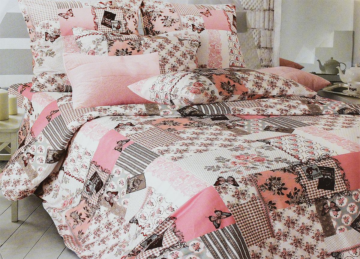 Комплект белья Tiffanys Secret Зефирные сны, 2-спальный, наволочки 70х70, цвет: розовый, серый, белый2040115970Комплект постельного белья Tiffanys Secret Зефирные сны является экологически безопасным для всей семьи, так как выполнен из сатина (100% хлопок). Комплект состоит из пододеяльника, простыни и двух наволочек. Предметы комплекта оформлены оригинальным рисунком. Благодаря такому комплекту постельного белья вы сможете создать атмосферу уюта и комфорта в вашей спальне. Сатин - это ткань, навсегда покорившая сердца человечества. Ценившие роскошь персы называли ее атлас, а искушенные в прекрасном французы - сатин. Секрет высококачественного сатина в безупречности всего технологического процесса. Эту благородную ткань делают только из отборной натуральной пряжи, которую получают из самого лучшего тонковолокнистого хлопка. Благодаря использованию самой тонкой хлопковой нити получается необычайно мягкое и нежное полотно. Сатиновое постельное белье превращает жаркие летние ночи в прохладные и освежающие, а холодные зимние - в теплые и ...
