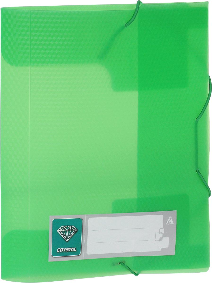 Бюрократ Папка-короб на резинке Crystal формат А5 цвет зеленый816217_зеленыйПапка-короб на резинке Crystal - это удобный и функциональный офисный инструмент, предназначенный для хранения и транспортировки большого объема рабочих бумаг и документов формата А5. Папка изготовлена из жесткого фактурного пластика и закрывается при помощи угловых резинок. Папка надежно сохранит ваши документы и сбережет их от повреждений, пыли и влаги.