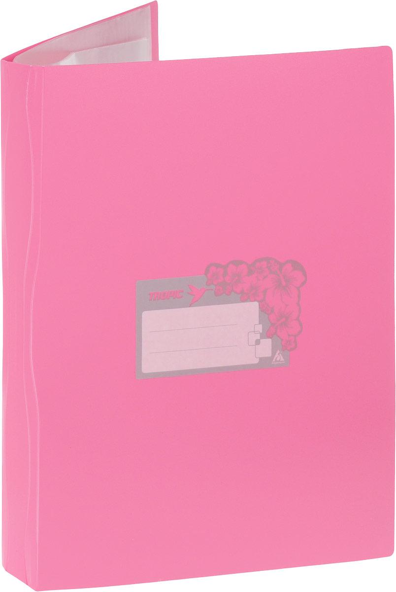 Бюрократ Папка Tropic с файлами 10 листов формат А4 цвет розовый817056_розовыйПапка Бюрократ Tropic формата А4 идеально подходит для подшивки бумаг в архивные папки без перфорирования дыроколом, а также для хранения различных документов. Папка изготовлена из прочного высококачественного пластика и содержит 10 прозрачных вкладышей. С такой папкой все ваши документы будут в полной сохранности.
