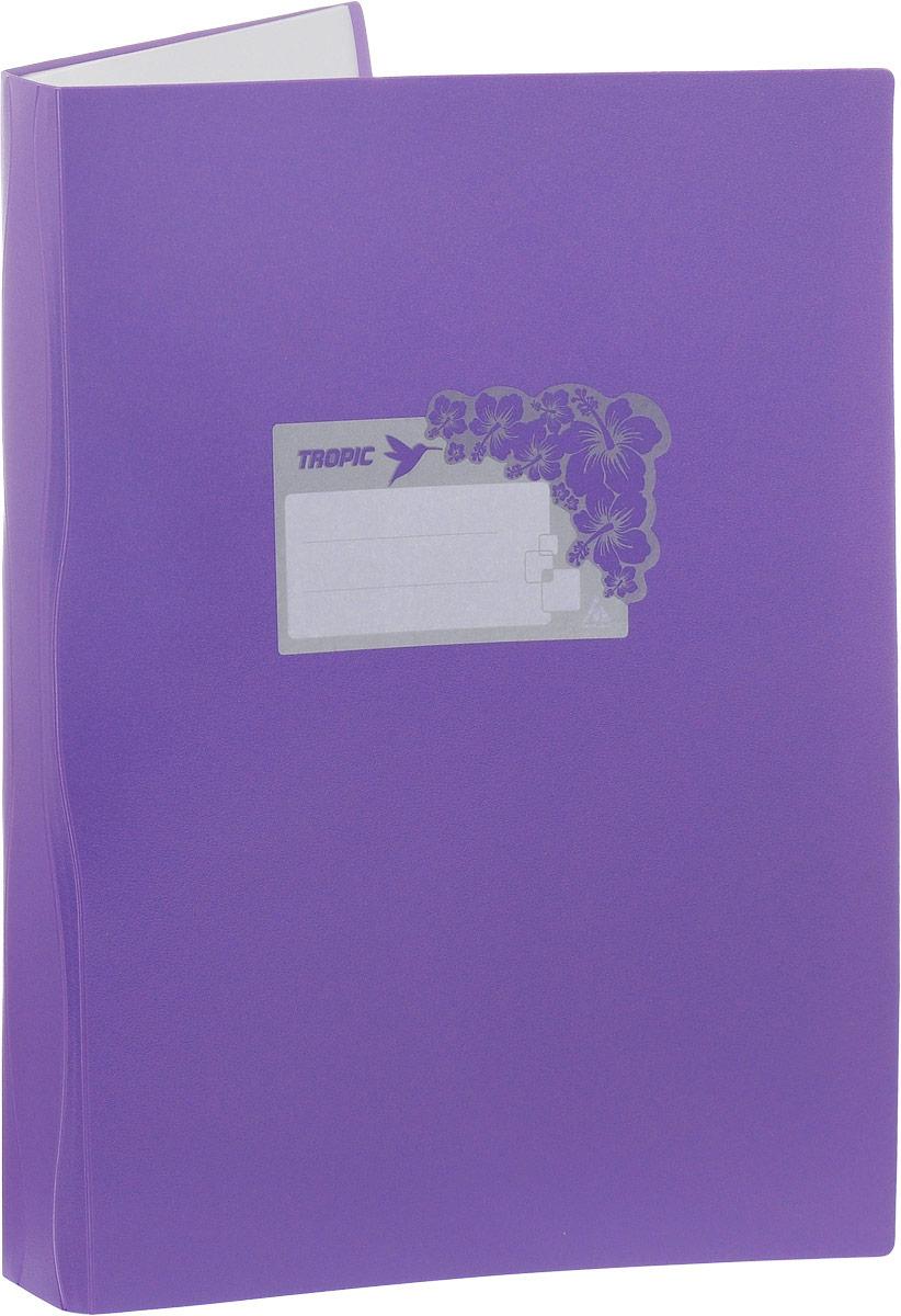 Бюрократ Папка Tropic с файлами 10 листов формат А4 цвет фиолетовый