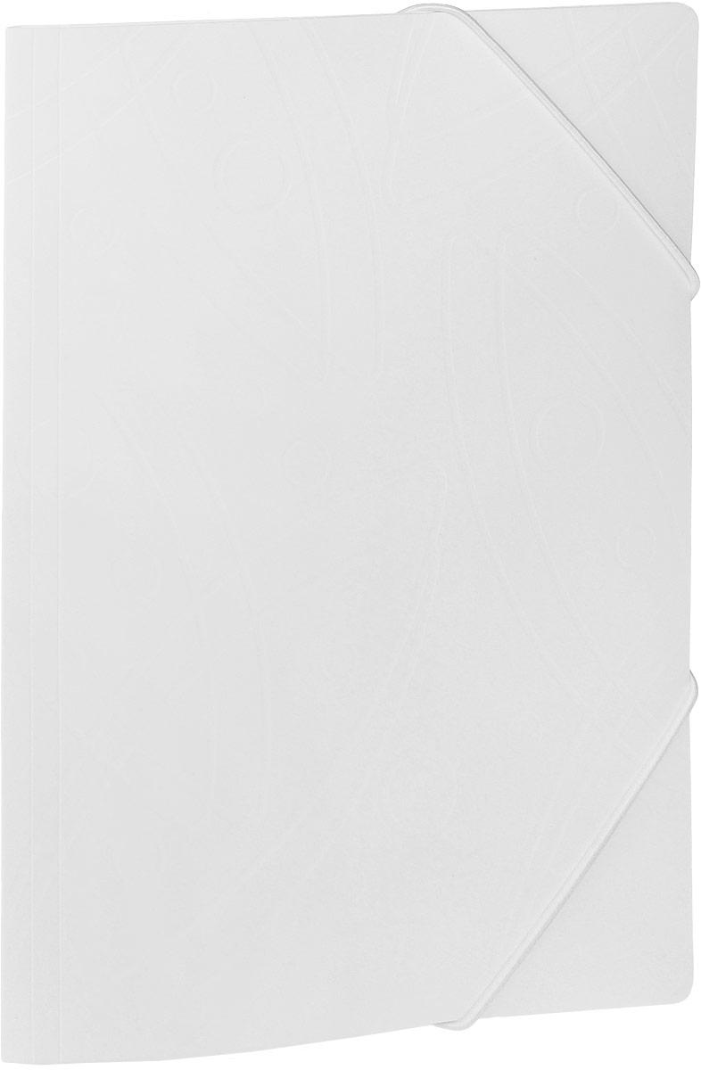 Бюрократ Папка на резинке Galaxy формат А4 цвет белый
