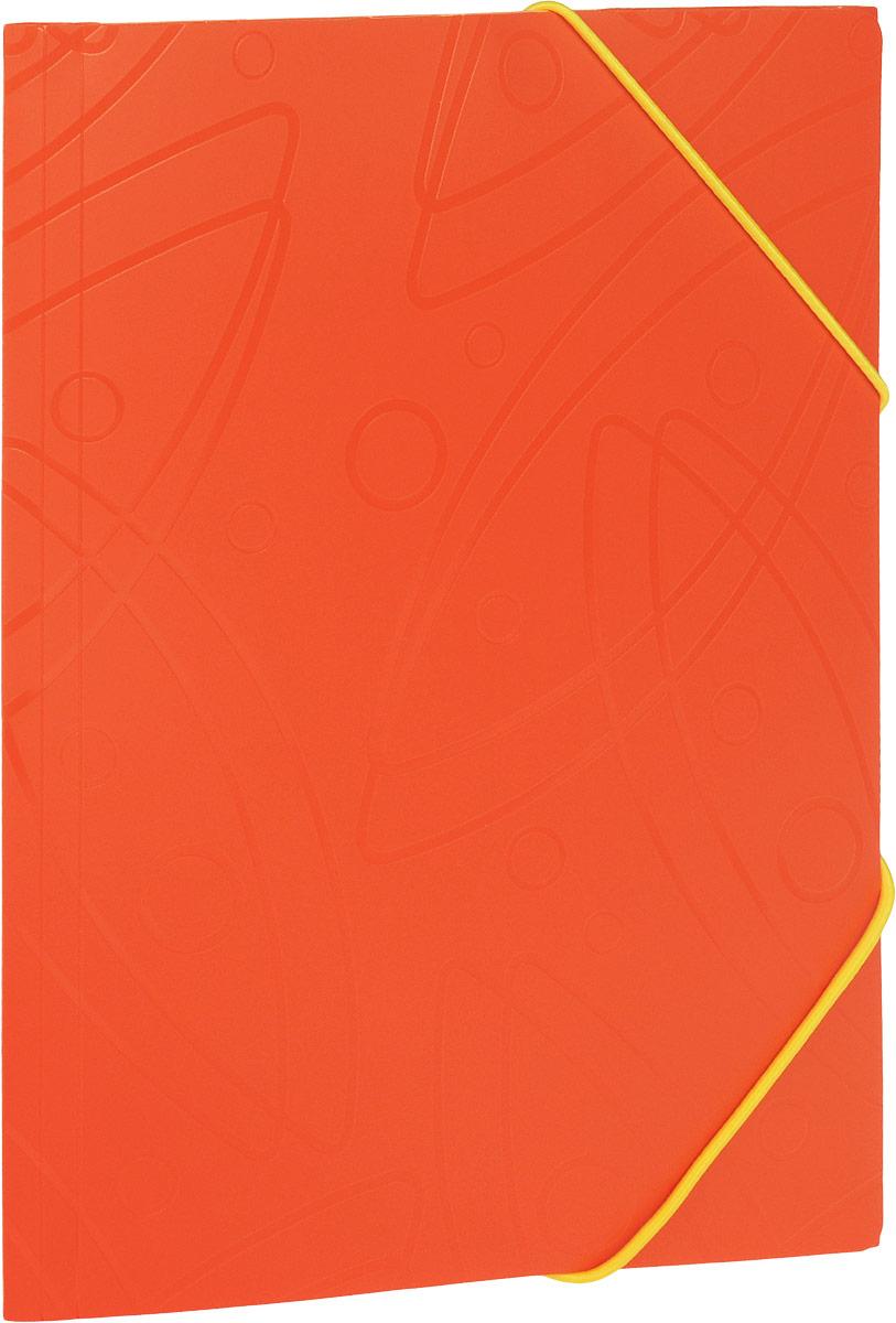 Бюрократ Папка на резинке Galaxy формат А4 цвет оранжевый