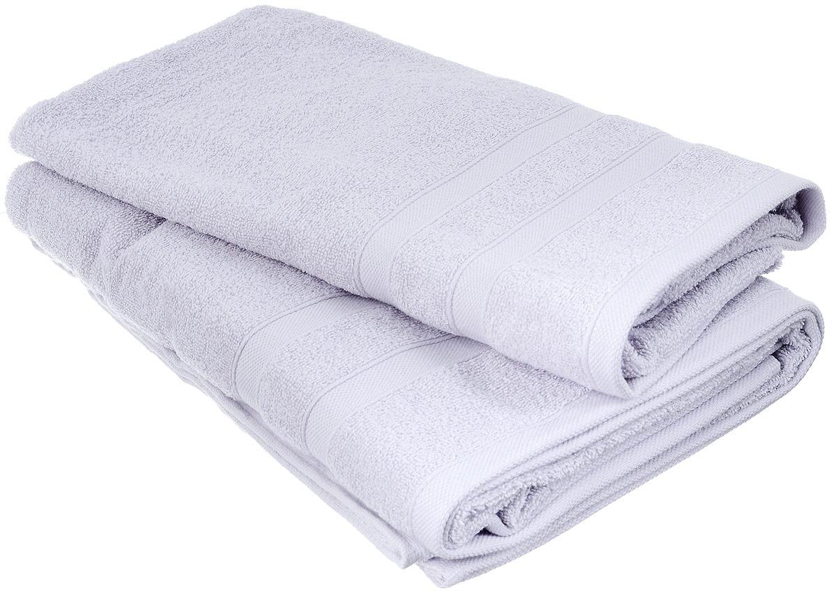Набор хлопковых полотенец Home Textile, цвет: светло-серый, 2 штLX-OZ07Набор Home Textile состоит из двух полотенец разного размера, выполненных из качественной натуральной махры (100% хлопок). Полотенца имеют гладкую, приятную на ощупь текстуру, край украшен классическим двойным бордюром. Мягкие и уютные, они прекрасно впитывают влагу и легко стираются. Кроме того, хлопковые полотенца отличаются высокой износоустойчивостью и долгим сроком службы. Такой набор полотенец подарит массу положительных эмоций и приятных ощущений.