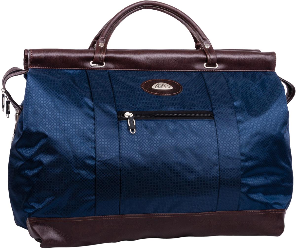 Саквояж Polar, на колесах, цвет: синий, 47 л, 52 х 41 х 22 см7021.2Большая вместительная, дорожная сумка из жаккарда с водоотталкивающей пропиткой. Внутри дополнительный карман для документов. Снаружи - два кармана (на внешней и внутренней стороне сумки), для мелких предметов. Дно и ручки выполнены из высокопрочного кожзаменителя. В комплект входит съемный плечевой ремень.