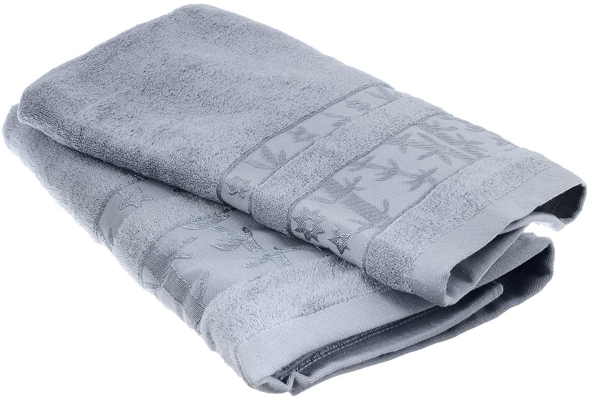Набор бамбуковых полотенец Home Textile Бамбук, цвет: светло-серый, 2 штLX-OZ05Набор Home Textile Бамбук состоит из двух полотенец разного размера, выполненных из бамбука с добавлением хлопка (70% бамбук, 30% хлопок). Полотенца имеют гладкую, приятную на ощупь текстуру, бордюры декорированы вышивкой в виде стеблей бамбука. Мягкие и уютные, они прекрасно впитывают влагу, легко стираются и быстро сохнут. Кроме того, бамбуковые полотенца отличаются высокой износоустойчивостью и долгим сроком службы, а также обладают антибактериальными свойствами. Такой набор полотенец подарит массу положительных эмоций и приятных ощущений.