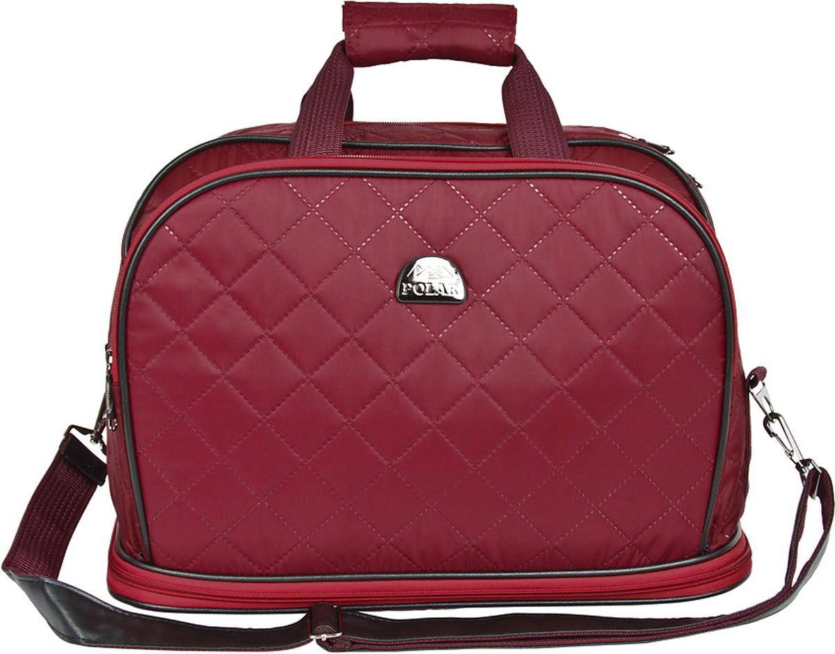 Сумка дорожная Polar Стежка, раздвижная, цвет: бордовый, 29 л, 40 х 30 х 24 см. 7055.17055.1Дорожная сумка Polar. Имеется съемный плечевой ремень, что бы носить сумку через плечо. Одно большое отделение для ваших вещей. Увеличивается в длину на 13 см. Два кармана спереди сумки на молнии. Высота ручек 17 см.