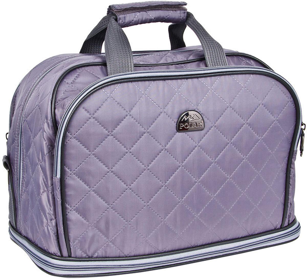 Сумка дорожная Polar Стежка, раздвижная, цвет: серый, 29 л, 40 х 30 х 24 см7055.1Дорожная сумка Polar. Имеется съемный плечевой ремень, что бы носить сумку через плечо. Одно большое отделение для ваших вещей. Увеличивается в длину на 13 см. Два кармана спереди сумки на молнии. Высота ручек 17 см.