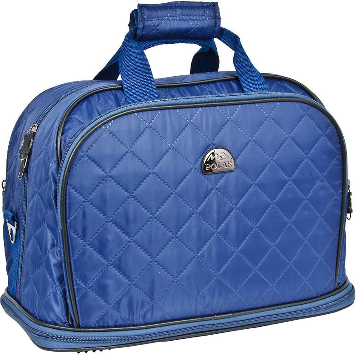 Сумка дорожная Polar Стежка, раздвижная, цвет: синий, 29 л, 40 х 30 х 24 см. 7055.17055.1Дорожная сумка Polar. Имеется съемный плечевой ремень, что бы носить сумку через плечо. Одно большое отделение для ваших вещей. Увеличивается в длину на 13 см. Два кармана спереди сумки на молнии. Высота ручек 17 см.