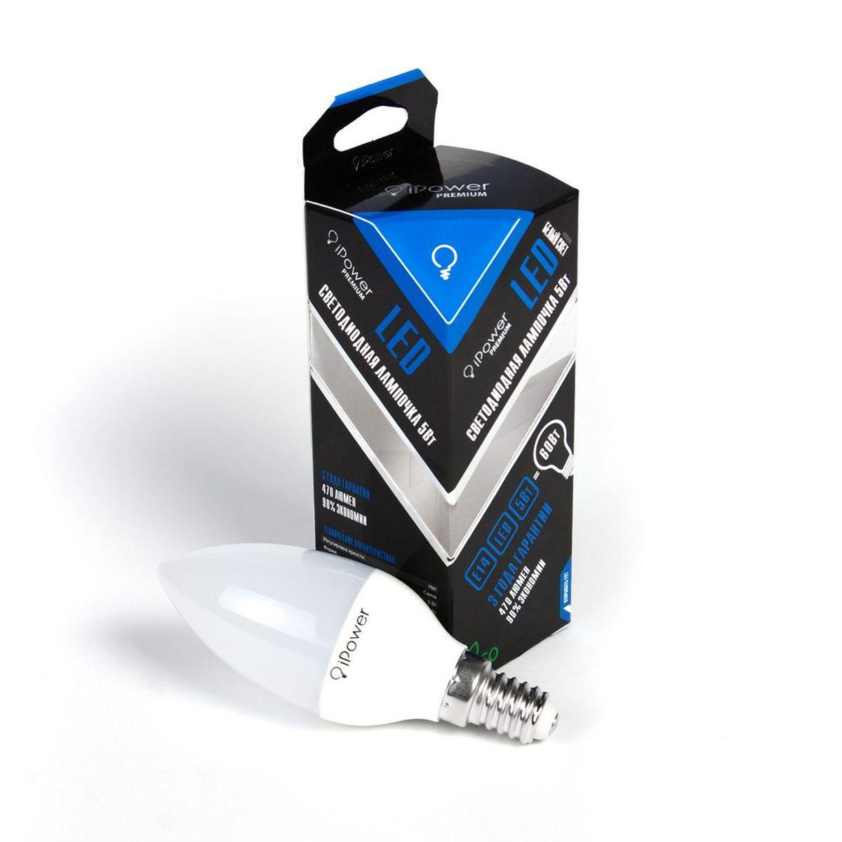 Лампа светодиодная iPower Premium, цоколь Е14, 5W, 4000К1001959Светодиодная лампа iPower Premium имеет очень низкое энергопотребление. В сравнении с лампами накаливания LED потребляет в 12 раз меньше электричества, а в сравнении с энергосберегающими - в 2-4 раза меньше. При этом срок службы LED лампочки в 5 раз выше, чем энергосберегающей, и в 50 раз выше, чем у лампы накаливания. Светодиодная лампа iPower Premium создает мягкий рассеивающий свет без мерцаний, что совершенно безопасно для глаз. Она специально разработана по требованиям российских и европейских законов и подходит ко всем осветительным устройствам, совместимым со стандартным цоколем E27. Использование светодиодов от мирового лидера Epistar - это залог надежной и стабильной работы лампы. Нейтральный белый оттенок свечения идеально подойдет для освещения, как офисов, образовательных и медицинских учреждений, так и кухни, гостиной. Диапазон рабочих температур: от -50°C до +50°С. Материал: алюминий, поликарбонат. Потребляемая мощность: 5 Вт. Рабочее...