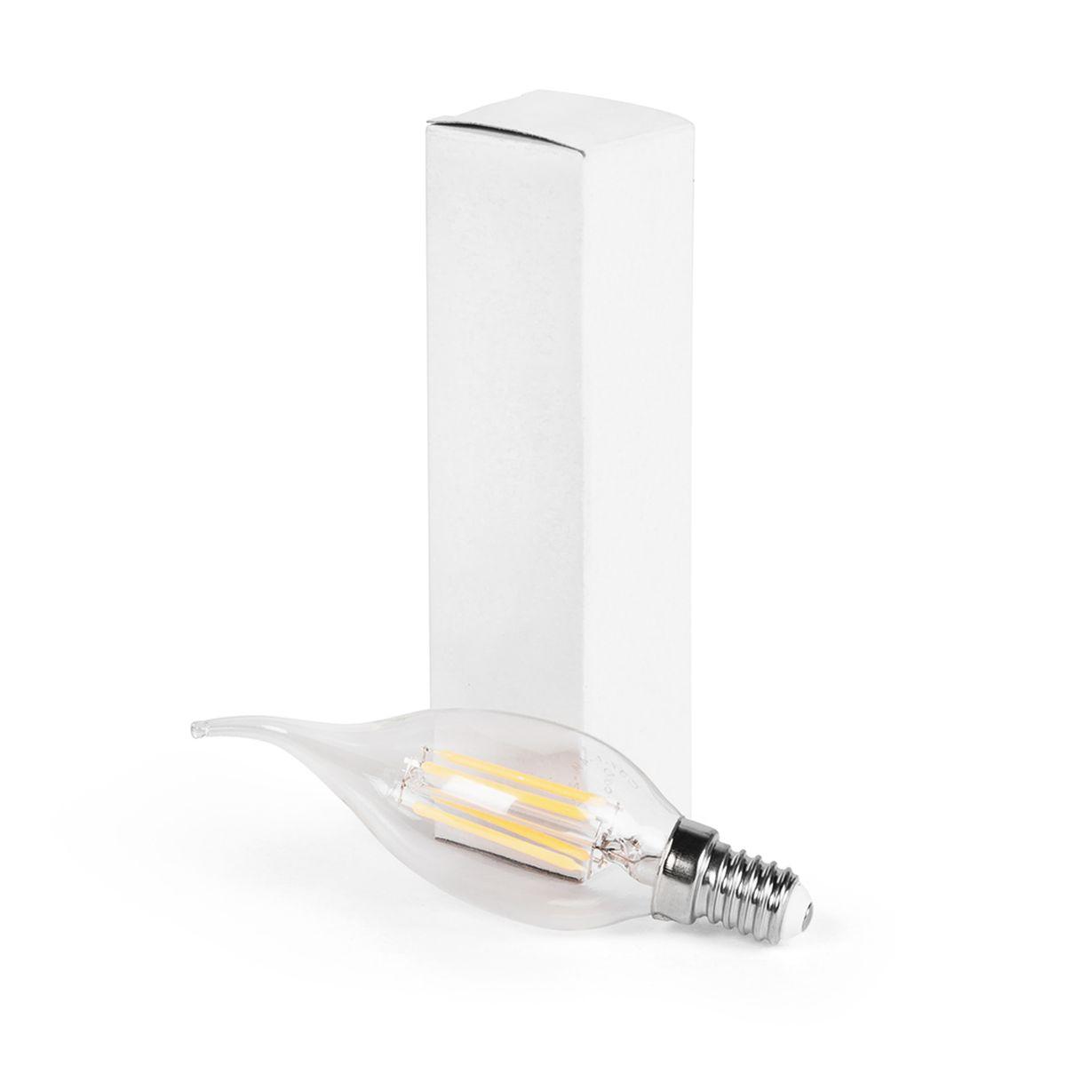 Лампа светодиодная iPower Filament, цоколь Е14, 4W, 2700К1005035Светодиодная лампа iPower Filament имеет очень низкое энергопотребление. В сравнении с лампами накаливания LED потребляет в 12 раз меньше электричества, а в сравнении с энергосберегающими - в 2-4 раза меньше. При этом срок службы LED лампочки в 5 раз выше, чем энергосберегающей, и в 50 раз выше, чем у лампы накаливания. Светодиодная лампа iPower Filament создает мягкий рассеивающий свет без мерцаний, что совершенно безопасно для глаз. Она специально разработана по требованиям российских и европейских законов и подходит ко всем осветительным устройствам, совместимым со стандартным цоколем E14. Диапазон рабочих температур: от -50°C до +50°С. Материал: стекло. Потребляемая мощность: 4 Вт. Рабочее напряжение: 220В. Световая температура: 2700К (теплый свет). Срок службы: 30000 часов. Форма: свеча на ветру. Цоколь: миньон (E14). Эквивалент мощности лампы накаливания: 40 Вт. Яркость свечения: 410 Лм.