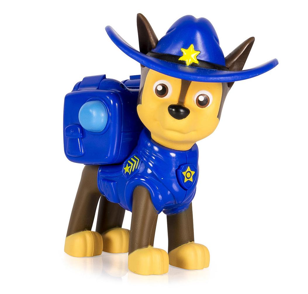 Paw Patrol Фигурка Cowboy Chase16655_20070718Фигурка щенка-спасателя Paw Patrol Cowboy Chase станет отличным подарком для любого поклонника мультфильма Щенячий патруль. У щенка на спине закреплен рюкзак-трансформер с уникальными функциями, знакомыми по мультфильму. Рюкзак активируется нажатием медальона на груди фигурки. Игрушка выпущена по второму сезону мультсериала, поэтому на голове щенка одета стильная шляпа. Голова фигурки вращается. Игрушка изготовлена из качественных и безопасных материалов.