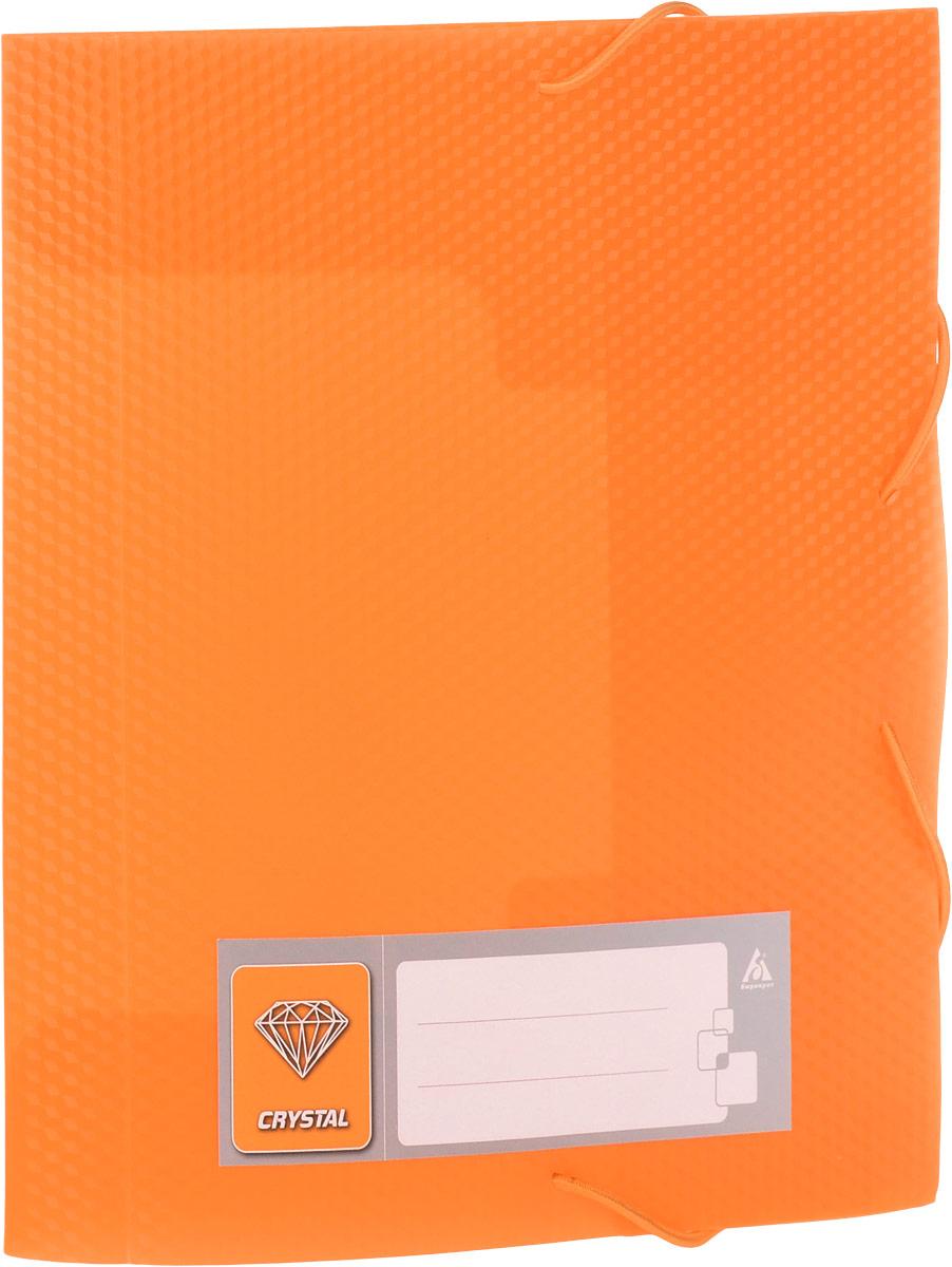 Бюрократ Папка-короб на резинке Crystal формат А5 цвет оранжевый816217_оранжевыйПапка-короб на резинке Crystal - это удобный и функциональный офисный инструмент, предназначенный для хранения и транспортировки большого объема рабочих бумаг и документов формата А5. Папка изготовлена из жесткого фактурного пластика и закрывается при помощи угловых резинок. Папка надежно сохранит ваши документы и сбережет их от повреждений, пыли и влаги.