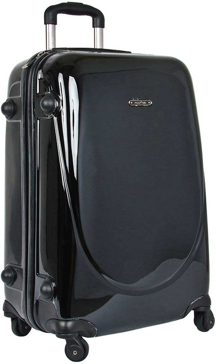 Чемодан пластиковый Polar, цвет: черный, 52 л, 38 х 57 х 24 см. Р1053(24)Р1053(24)Суперлегкий пластиковый чемодан Спиннер Polar. Материал ABS- пластик максимально устойчив к деформации. Кроме того, он обладает повышенной гибкостью, что позволяет материалу не ломаться и не трескаться при внешних нагрузках. Наши чемоданы отлично подходят для перевозки хрупких вещей. Пластик отлично защищает внутреннее содержание от любых внешних воздействий.Еще один принципиальный момент- это количество колес. Чемодан с четырьмя колесами на основании. Он более маневренный и удобный в обращении по отношению к двухколесным чемоданам. Можно просто выдвинуть ручку и катить его рядом с собой в любом направлении, при этом не будет никакой нагрузки на кисть, что очень важно, если чемодан у вас большой и тяжелый. Выдвижная ручка (выдвигается в два сложения на 40 см.), внутренняя тележка. Внутри: портплед, карман из сетки на молнии, фиксатор с зажимом для ваших вещей. Дополнительный карман для вещей ,закрывается на молнии. 4 колеса вращаются на 360 градусов. Также предусмотрен кодовый замок.