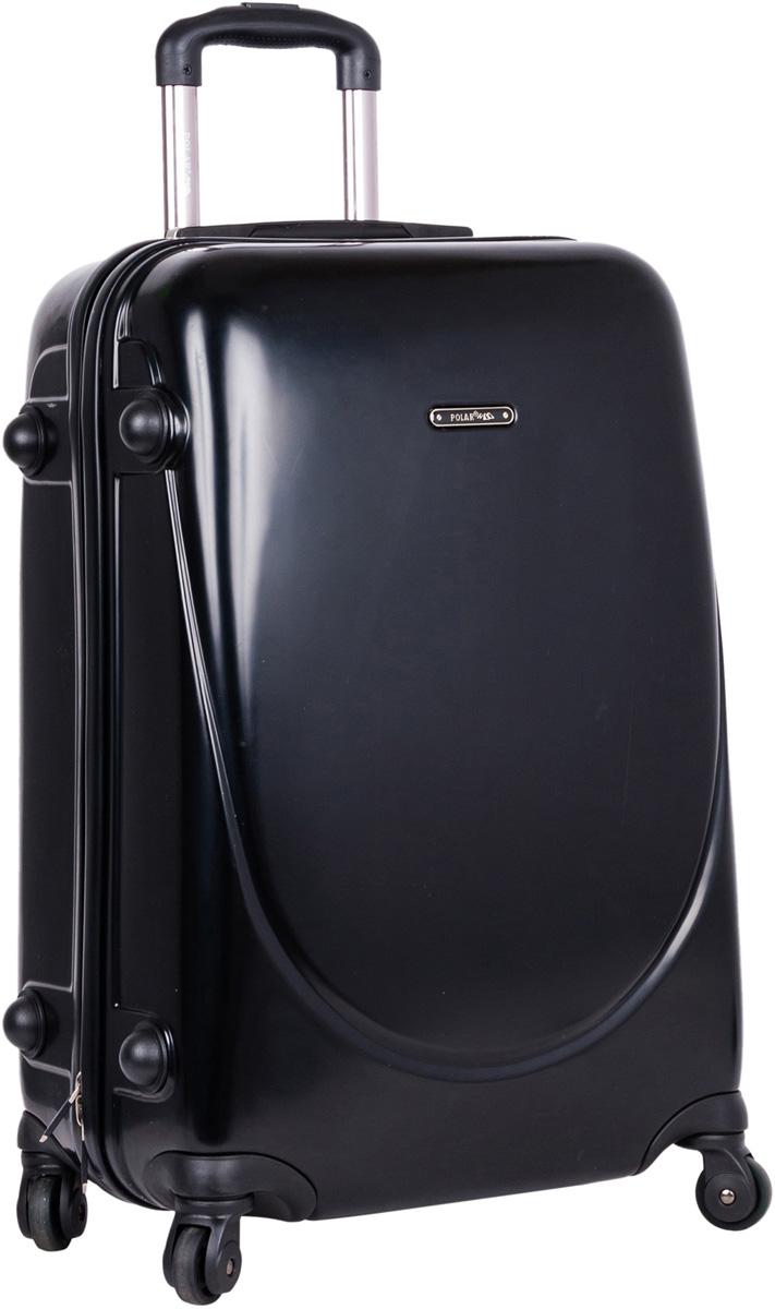 Чемодан пластиковый Polar, цвет: черный, 84,5 л, 43 х 70 х 28 см. Р1053(28)Р1053(28)Суперлегкий пластиковый чемодан Спиннер Polar. Материал ABS- пластик максимально устойчив к деформации. Кроме того, он обладает повышенной гибкостью, что позволяет материалу не ломаться и не трескаться при внешних нагрузках. Наши чемоданы отлично подходят для перевозки хрупких вещей. Пластик отлично защищает внутреннее содержание от любых внешних воздействий. Еще один принципиальный момент- это количество колес. Чемодан с четырьмя колесами на основании. Он более маневренный и удобный в обращении по отношению к двухколесным чемоданам. Можно просто выдвинуть ручку и катить его рядом с собой в любом направлении, при этом не будет никакой нагрузки на кисть, что очень важно, если чемодан у вас большой и тяжелый. Выдвижная ручка (выдвигается в два сложения на 30 см.), внутренняя тележка. Внутри: портплед, карман из сетки на молнии, фиксатор с зажимом для ваших вещей. Дополнительный карман для вещей ,закрывается на молнии. 4 колеса вращаются на 360 градусов. Также предусмотрен кодовый замок.