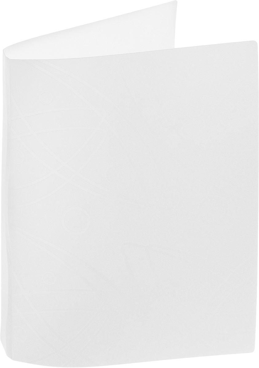 Бюрократ Папка с зажимом Galaxy формат А4 цвет белый