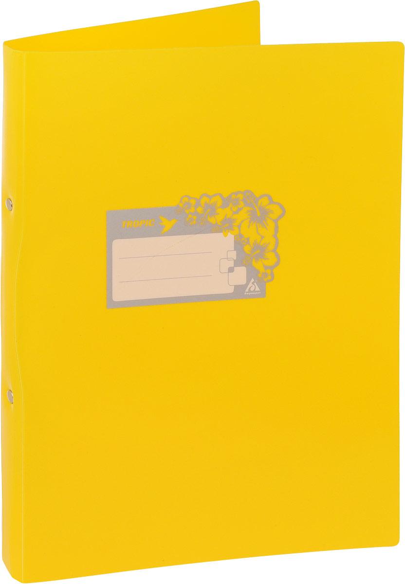 Бюрократ Папка-скоросшиватель Tropic формат А4 цвет желтый